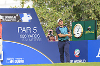 Francesco Molinari (ITA) on the 14th fairway during the 3rd round of the DP World Tour Championship, Jumeirah Golf Estates, Dubai, United Arab Emirates. 17/11/2018<br /> Picture: Golffile | Fran Caffrey<br /> <br /> <br /> All photo usage must carry mandatory copyright credit (&copy; Golffile | Fran Caffrey)