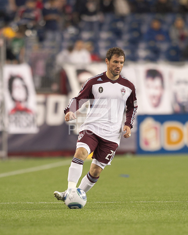 Colorado Rapids midfielder Jamie Smith (20) passes the ball. In a Major League Soccer (MLS) match, the New England Revolution tied the Colorado Rapids, 0-0, at Gillette Stadium on May 7, 2011.