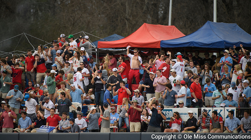 Ole Miss baseball vs. East Carolina in Oxford, Miss., Saturday, Feb. 18, 2017. Photo by Thomas Graning/Ole Miss Communications