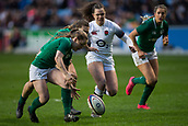 16th March 2018, Ricoh Arena, Coventry, England; Womens Six Nations Rugby, England Women versus Ireland Women; Nicole Cronin of Ireland chases down a loose ball