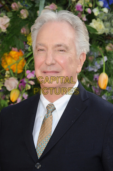 LONDON, ENGLAND - APRIL 13: Alan Rickman attends the UK Premiere of A Little Chaos at Kensington Odeon on April 13, 2015 in London, England.<br /> CAP/BEL<br /> &copy;BEL/Capital Pictures