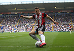 Billy Sharp of Sheffield Utd crosses the ball during the championship match at St Andrews Stadium, Birmingham. Picture date 21st April 2018. Picture credit should read: Simon Bellis/Sportimage