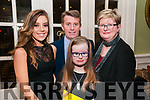 Nano Nagle Social :  Attending the Nano Nagle School, Listowel social at the Listowel Arms Hotel on Friday night last were Laura Russell & Donie, Anna & Joan O'Keeffe, Asdee.