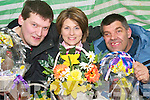 Market: Aoife Keogh of the Brothers of Charity with service users Sean .Donovan and Norman Leahy, Abbeyfeale who are selling their Easter hand made .goods at the Abbeyfeale farmers market..   Copyright Kerry's Eye 2008