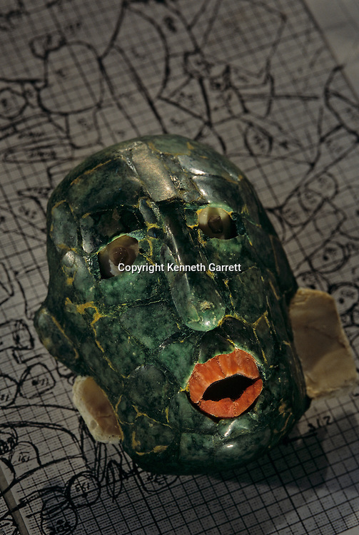 Ancient Cultures; Americas; Maya; Palenque; Mexico; Chiapas; Temple of Inscriptions; Jade Mask; Red Queen