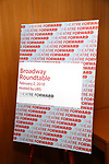 attends the Theatre Forward Broadway Roundtable on February 2, 2018  at UBS in New York City.