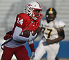 Terrance Edmond #14 of Freeport runs for a 92-yard touchdown during first quarter of the Nassau County football Conference I semifinals against Uniondale at Shuart Stadium in Hempstead on Saturday, Nov. 10, 2018.