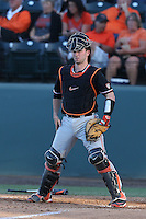 Logan Ice (33) of the Oregon State Beavers in the field during a game against the UCLA Bruins at Jackie Robinson Stadium on April 4, 2015 in Los Angeles, California. UCLA defeated Oregon State, 10-5. (Larry Goren/Four Seam Images)