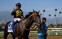 ARCADIA, CA - JUNE 03: Bal A Bali #3 with Mike Smith up wins the Shoemaker Mile Stakes at Santa Anita Park  on June 03, 2017 in Arcadia, California. (Photo by Alex Evers/Eclipse Sportswire/Getty Images)
