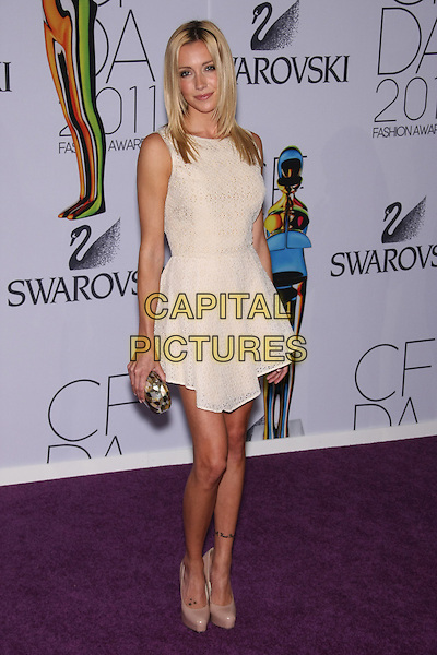 Katie Cassidy.The 2011 CFDA (Council of Fashion Designers of America) Fashion Awards at Alice Tully Hall - Lincoln Center, New York, NY, USA..June 6th, 2011.full length white cream sleeveless nude dress shoes .CAP/LNC/TOM.©TOM/LNC/Capital Pictures.