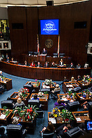 TALLAHASSEE, FLA. 3/4/14-Senate President Don Gaetz, R-Niceville, addresses the Senate during the opening day of the legislative session, March 4, 2014 at the Capitol in Tallahassee.<br /> <br /> COLIN HACKLEY PHOTO