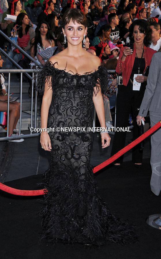 """PENELOPE CRUZ.attends World Premiere of """"Pirates of the Caribbean: On Stranger Tides"""" held at Disneyland Anaheim, California_07/05/2011. This was her first official outing since the bith of her son.Mandatory Photo Credit: ©Crosby/Newspix International..**ALL FEES PAYABLE TO: """"NEWSPIX INTERNATIONAL""""**..PHOTO CREDIT MANDATORY!!: NEWSPIX INTERNATIONAL(Failure to credit will incur a surcharge of 100% of reproduction fees)..IMMEDIATE CONFIRMATION OF USAGE REQUIRED:.Newspix International, 31 Chinnery Hill, Bishop's Stortford, ENGLAND CM23 3PS.Tel:+441279 324672  ; Fax: +441279656877.Mobile:  0777568 1153.e-mail: info@newspixinternational.co.uk"""