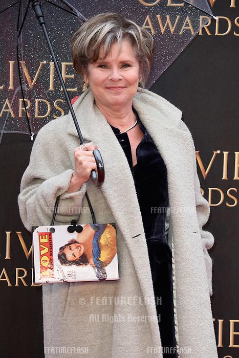 Imelda Staunton arriving for the Olivier Awards 2018 at the Royal Albert Hall, London, UK. <br /> 08 April  2018<br /> Picture: Steve Vas/Featureflash/SilverHub 0208 004 5359 sales@silverhubmedia.com