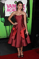 "LOS ANGELES, CA - FEBRUARY 04: Sarah Hyland at the Los Angeles Premiere Of The Weinstein Company's ""Vampire Academy"" held at Regal Cinemas L.A. Live on February 4, 2014 in Los Angeles, California. (Photo by Xavier Collin/Celebrity Monitor)"