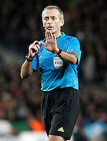 Referee Martin Atkinson during Champions League 2014/2015 match.December 10,2014. (ALTERPHOTOS/Acero) /NortePhoto
