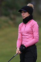 Nicole Joyce Moreno (Royal Portrush) on the 1st tee during Round 1 of the Irish Girls U18 Open Stroke Play Championship at Roganstown Golf &amp; Country Club, Dublin, Ireland. 05/04/19 <br /> Picture:  Thos Caffrey / www.golffile.ie