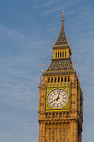 UK, England, London.  Big Ben Clock Tower, Elizabeth Tower, Westminster Palace.
