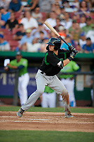 Dayton Dragons Morgan Lofstrom (34) during a Midwest League game against the Kane County Cougars on July 20, 2019 at Northwestern Medicine Field in Geneva, Illinois.  Dayton defeated Kane County 1-0.  (Mike Janes/Four Seam Images)