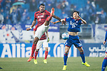Guangzhou Midfielder Paulinho Maciel (L) fights for the ball with Suwon Midfielder Yeom Ki Hun (R) during the AFC Champions League 2017 Group G match Between Suwon Samsung Bluewings (KOR) vs Guangzhou Evergrande FC (CHN) at the Suwon World Cup Stadium on 01 March 2017 in Suwon, South Korea. Photo by Victor Fraile / Power Sport Images