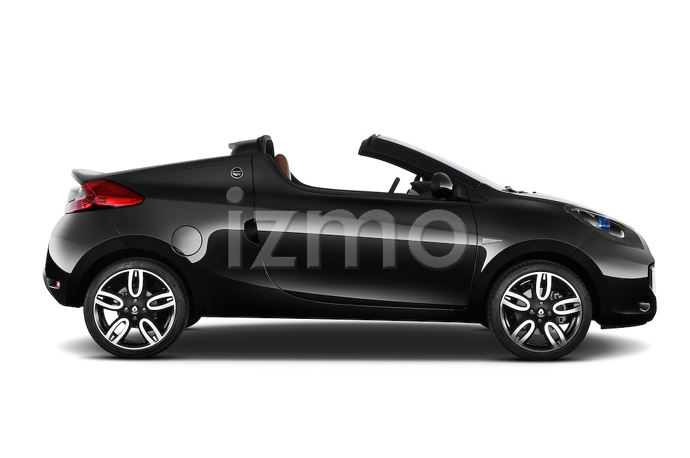 Passenger side profile view of a 2010 Renault Wind Convertible.