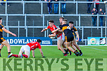 David Clifford East Kerry is swarmed by the Stacks defence during their SFC clash in Fitzgerald Stadium on Sunday