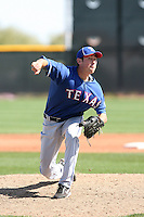 Kyle Ocampo, Texas Rangers minor league spring training..Photo by:  Bill Mitchell/Four Seam Images.