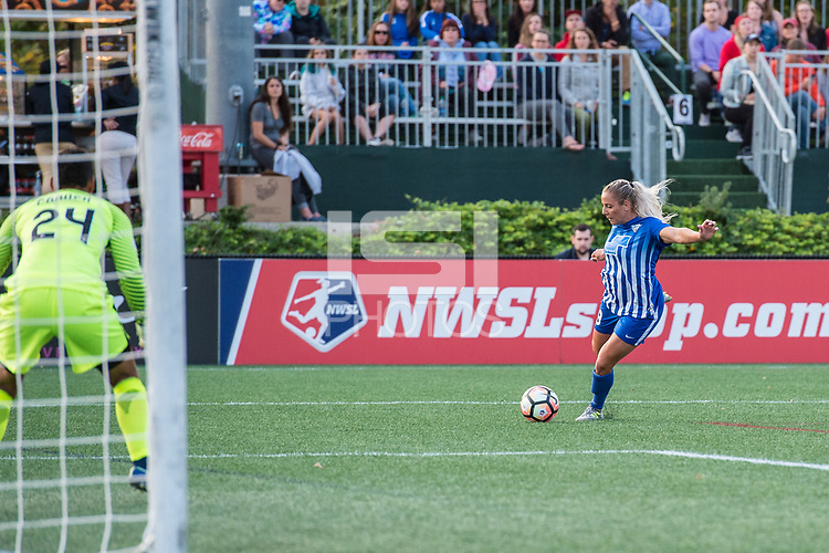 Boston, MA - Sunday September 10, 2017: Adriana Leon during a regular season National Women's Soccer League (NWSL) match between the Boston Breakers and Portland Thorns FC at Jordan Field.