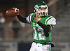 Logan Masters #12, Seaford quarterback, throws a pass during the Nassau County Conference IV varsity football semifinals against Locust Valley at Hofstra University on Thursday, Nov. 9, 2017.