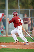 Boston College Eagles pinch hitter Jake Goodreau (32) at bat during a game against the Minnesota Golden Gophers on February 23, 2018 at North Charlotte Regional Park in Port Charlotte, Florida.  Minnesota defeated Boston College 14-1.  (Mike Janes/Four Seam Images)
