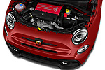Car stock 2018 Abarth 595 C Competizione 2 Door Convertible engine high angle detail view