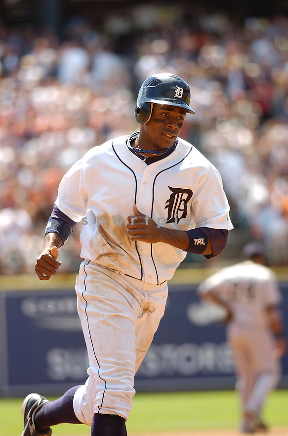 CURTIS GRANDERSON, of the Detroit Tigers, in action during the Tigers game against the New York Yankees in Detroit, MI on August 26, 2007...Tigers win 5-4..CHRIS BERNACCHI/ SPORTPICS.....
