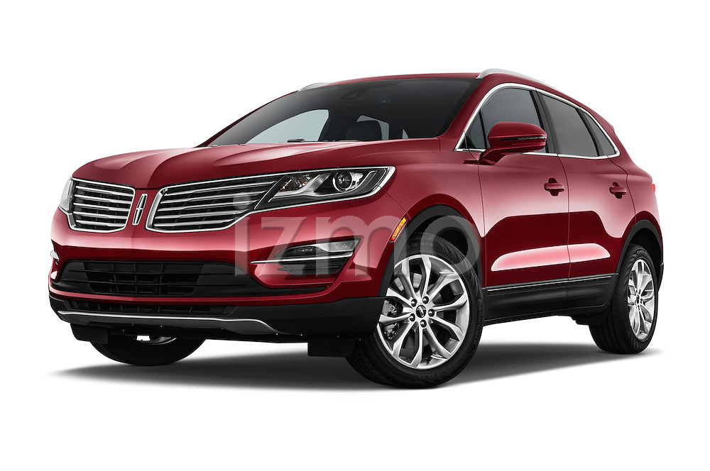 Stock pictures of low aggressive front three quarter view of a 2015 Lincoln MKC FWD 5 Door SUV Low Aggressive