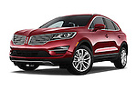 Stock pictures of low aggressive front three quarter view of a 2018 Lincoln MKC FWD 5 Door SUV Low Aggressive