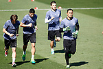 Real Madrid's Luka Modric, James Rodriguez, Mateo Kovacic and Keylor Navas during training session. April 17,2017.(ALTERPHOTOS/Acero)