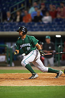Daytona Tortugas designated hitter Angelo Gumbs (21) bats during a game against the Clearwater Threshers on April 19, 2016 at Bright House Field in Clearwater, Florida.  Clearwater defeated Daytona 4-1.  (Mike Janes/Four Seam Images)