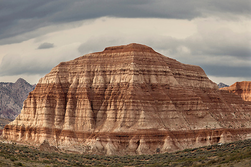 Erosion has sculpted badlands along the Paria River in Southern Utah
