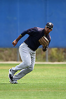 New York Yankees Alexander Palma (40) during practice before a minor league spring training game against the Toronto Blue Jays on March 24, 2015 at the Englebert Complex in Dunedin, Florida.  (Mike Janes/Four Seam Images)
