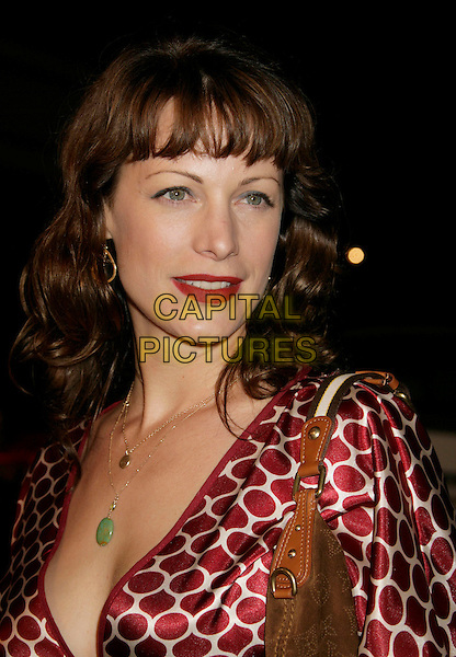 "ALISON EASTWOOD .""Flags of Our Fathers"" Los Angeles Premiere held at the Academy of Motion Picture Arts and Sciences, Beverly Hills, California, USA, 09 October 2006..portrait headshot red patterned print dress fringe.Ref: ADM/RE.www.capitalpictures.com.sales@capitalpictures.com.©Russ Elliot/AdMedia/Capital Pictures."