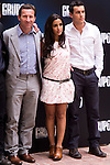"Presentation at the Intercontinental Hotel in Madrid of the film ""Group 7"" with the presence of the actors Mario Casas, Antonio de la Torre, Inma Cuesta, Jose Manuel Poga, Joaquin Nunez, director Alberto Rodriguez, and producer Jose Antonio Fellez. In the picture: Antonio de la Torre, Inma Cuesta and Mario Casas..(Alterphotos/Marta Gonzalez)"