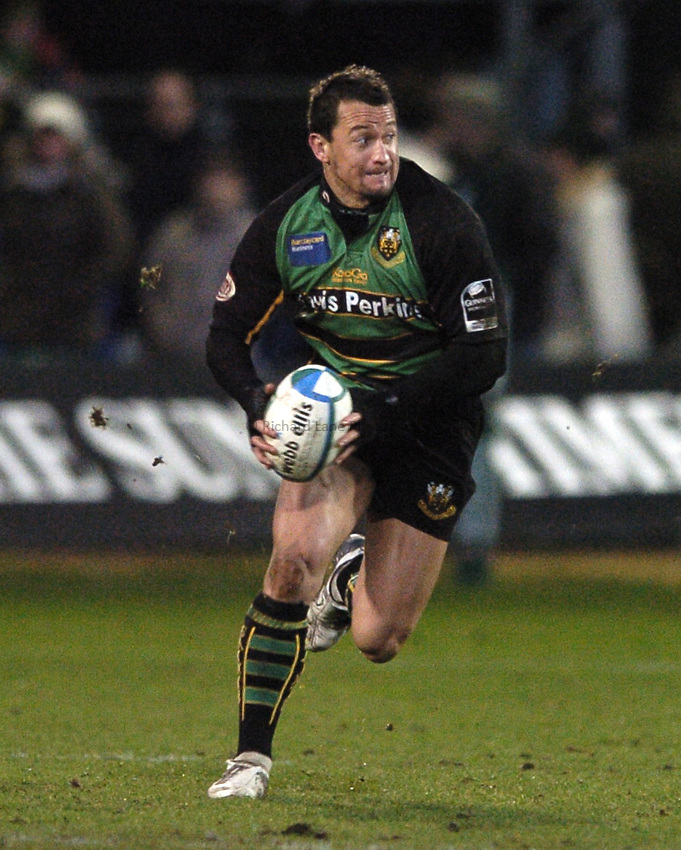 Photo: Jonathan Butler..Northampton Saints v Biarrtiz. Heineken Cup. 21/01/2007..Carlos Spencer of Northampton Saints.
