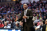 WINSTON-SALEM, NC - FEBRUARY 24: Wake Forest assistant coach Jamill Jones. The Wake Forest University Demon Deacons hosted the University of Notre Dame Fighting Irish on February 24, 2018 at Lawrence Joel Veterans Memorial Coliseum in Winston-Salem, NC in a Division I men's college basketball game. Notre Dame won the game 76-71.