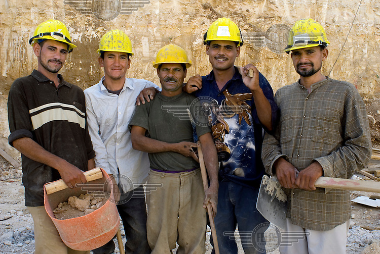 Egyptian migrant construction workers.