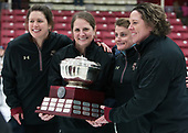 Gillian Apps (BC - Assistant Coach), Katie Crowley (BC - Head Coach), Alison Quandt (BC - Volunteer Assistant Coach-Goaltenders), Courtney Kennedy (BC - Associate Head Coach) -  The Boston College Eagles defeated the Northeastern University Huskies 2-1 in overtime to win the 2017 Hockey East championship on Sunday, March 5, 2017, at Walter Brown Arena in Boston, Massachusetts.