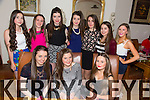 Caoimhe Moore from Killeen, Tralee celebrating her 15th Birthday with friends at Bella Bia's on Friday.  Front l-r Grainne Finnegan, Caoimhe Moore, Jade Keane.  Back l-r Caitie Gunn, Tess Dowling, Roisin Curry, Carrie Dowling, Maeve McKibergan, Lorraine Doyle, Ali Crean