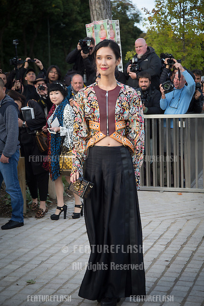 Tao Okamoto attend Louis Vuitton Show Front Row - Paris Fashion Week  2016.<br /> October 7, 2015 Paris, France<br /> Picture: Kristina Afanasyeva / Featureflash