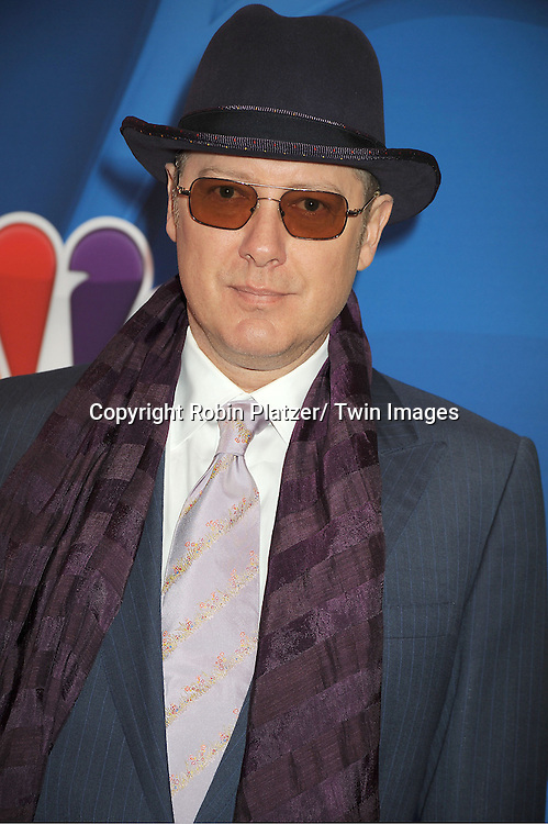 James Spader arrives at the NBC Upfront Presentation for 2013-2014 Season on May 13, 2013 at Radio City Music Hall in New York City.