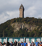 The Wallace Monument towering over the far end of Forthbank Stadium