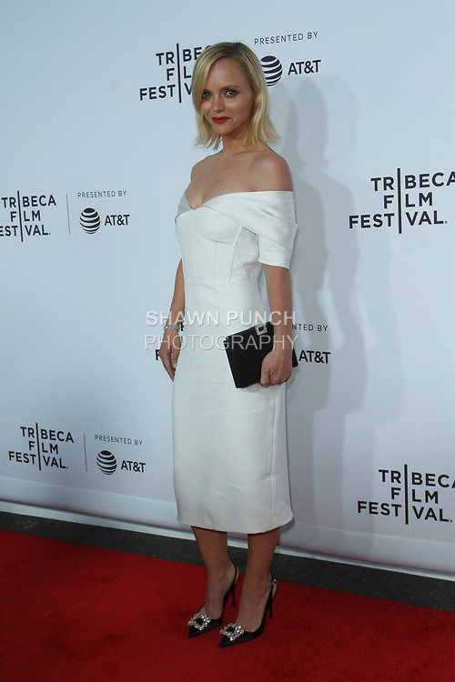 """Christina Ricci arrives at the Clive Davis: """"The Soundtrack Of Our Lives"""" world premiere for the Opening Night of the 2017 TriBeCa Film Festival on April 19, 2017 at Radio City Music Hall."""