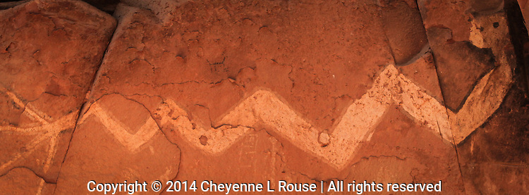 Reclining Rock Art  - Pictograph - Arizona - Sedona - Sinagua culture