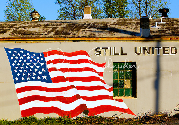 A patriotic scene in Charlotte, NC. Photographer has extensive collection of Charlotte images.